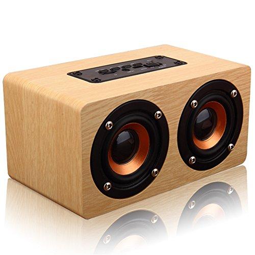 GUORZOM Wooden Wireless Bluetooth Speaker W5 Portable Sound