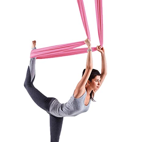 Amazon.com : Yoga Hammock/Pink Yoga Hammock/Air Flying ...