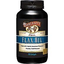 Barlean's Lignan Flax Oil,  1000 mg ea, 250 Count