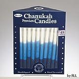 Premium Hanukkah Candles for Chanukah Menorah Blue, Light Blue & White