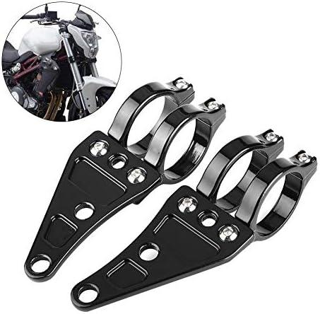 2 Stücke Motorrad Scheinwerfer Halterung Scheinwerferklemmen Halter Gabel 35 43mm Auto