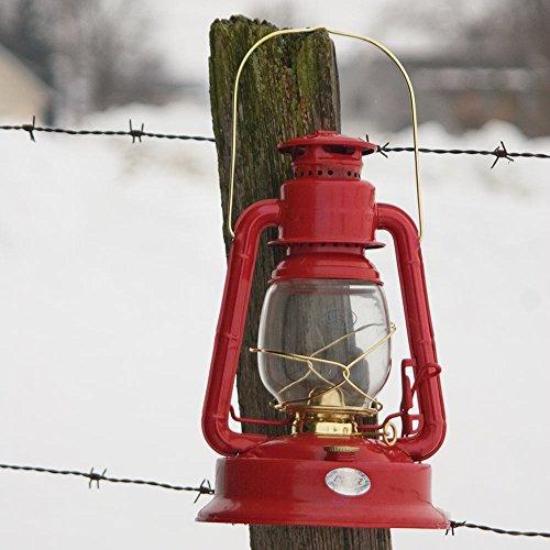 Crownplace Brands Dietz Lil' Wizard Hurricane Oil Lantern Red with gold ()