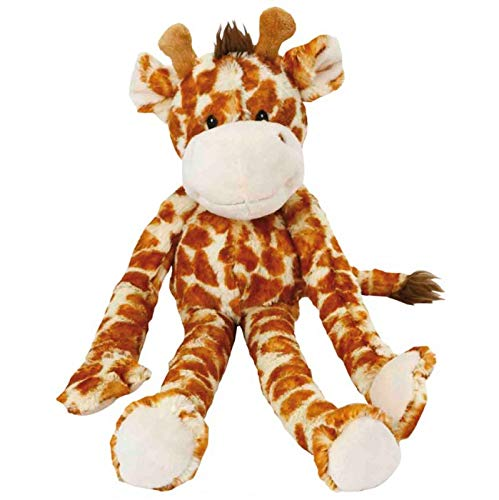 (Multipet Swingin 19-Inch Large Plush Dog Toy with Extra Long Arms and Legs with Squeakers)