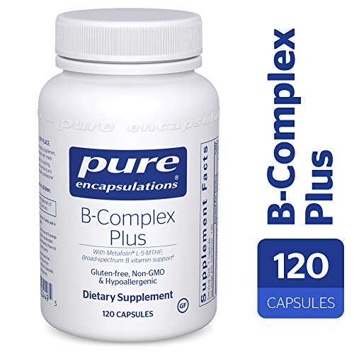 Pure Encapsulations - B-Complex Plus - Balanced B Vitamin Formula with Metafolin® L-5-MTHF and Vitamin B12 - 120 Capsules (Best Natural Vitamin B Complex)