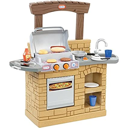 BBQ Kitchen Playsets For Toddlers Pretend Playset Kids Indoor Outdoor  Cooking Set Toys Baby NEW