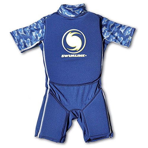 - Swimline 9892B Blue Lycra Boy's Floating Swim Trainer Wet Suit Life Vest Small
