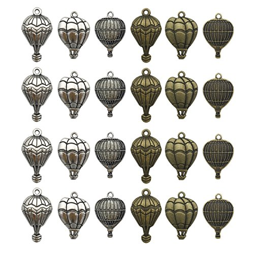 Hot Air Balloon Charm-100g(55-60pcs) Craft Supplies Charms Pendants for Crafting, Jewelry Findings Making Accessory For DIY Necklace Bracelet M9 -