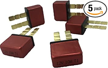 PHOTO-TOP 5A-30A Automotive Circuit Breaker ATC Blade Type Terminal Connection Plug In Mounting 2 pcs
