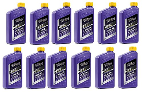 Royal Purple 31140 HPS Street Synthetic Motor Oil 10W-40 for Max Performance Modified Engines 1 qt (Case of 12)