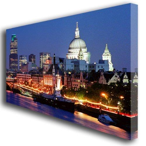 London skyline canvas wall art print large 343 amazon co uk kitchen home