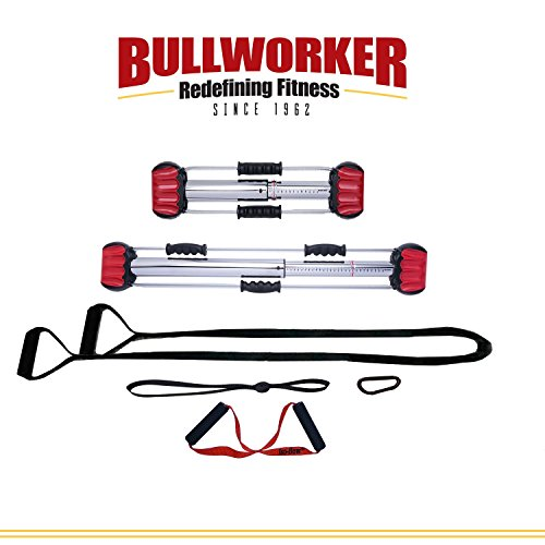 Bullworker Pro Pack – Full Body Workout – Complete Cross Training Home Gym; Portable Isometric Exercise Equipment for Strength and Flexibility Training. Personal Compact Traveling Fitness