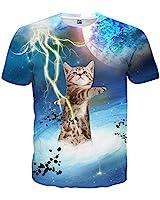 e3f89a904aaf Neemanndy Unisex Thunder Cat Cut Colorul 3D Print Graphic Short Sleeve T  Shirts Foo Men and