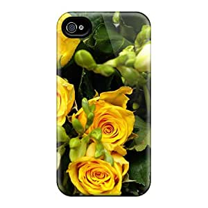 New Design Shatterproof Itf14178EPyN Cases For Iphone 6 (joy Yellow Rose Bouquet)