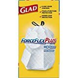Glad ForceFlexPlus Tall Kitchen Drawstring Trash Bags, Unscented, 80 ct