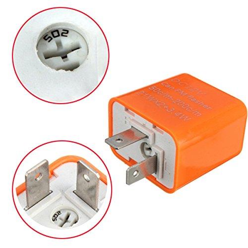Turn Signal Flasher Relay 12V 2 Pin Motorcycle LED Indicator Light - 2