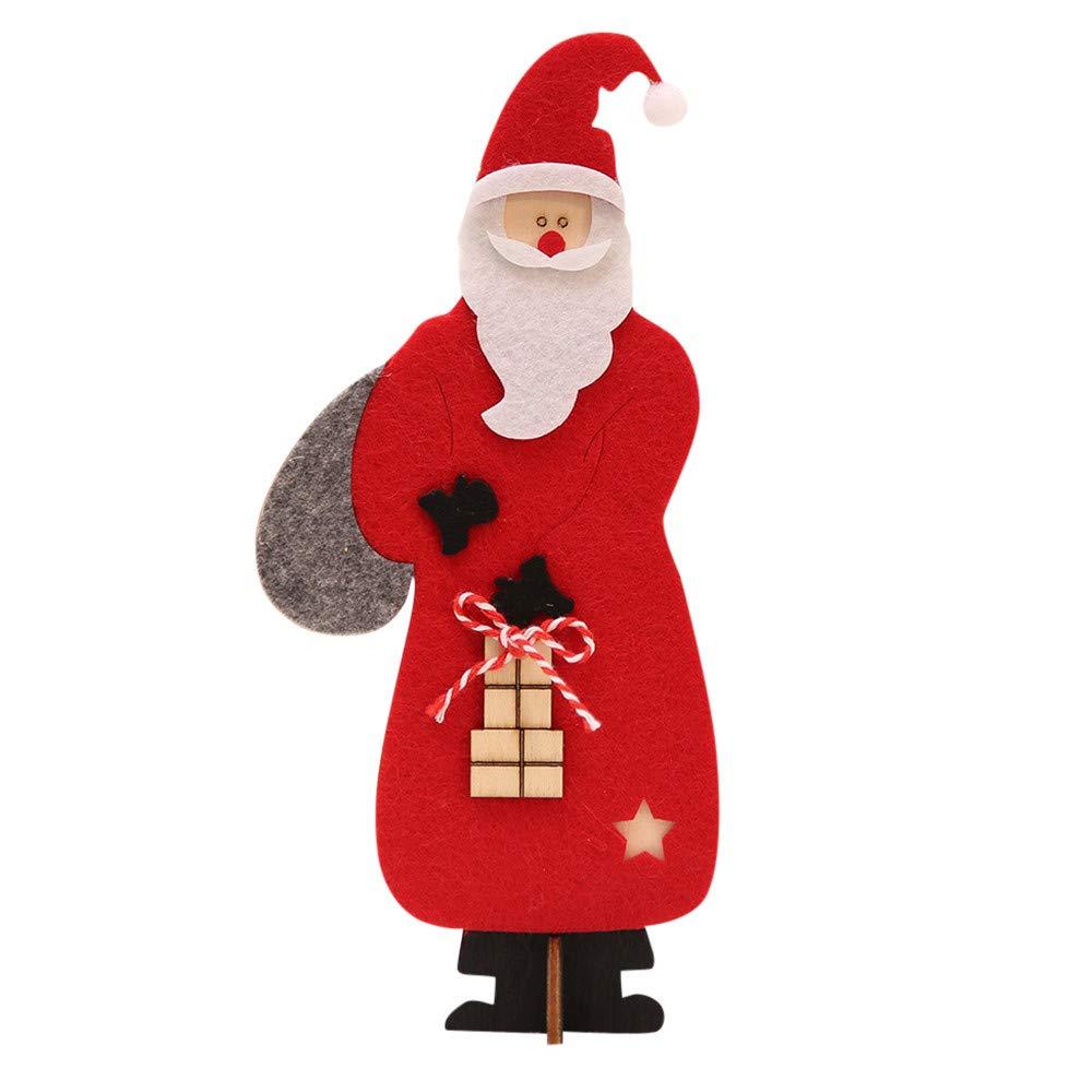Mikkar Wooden Christmas Santa Claus Assembling Crafts Home Decor Ornaments