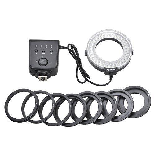 amzdeal® Flash Anular Macrofotografía, LED flash ring light, Flash Anular LED Macro para Nikon 60 LED Luz de anillo Speedlite Flash Flash Camara ...