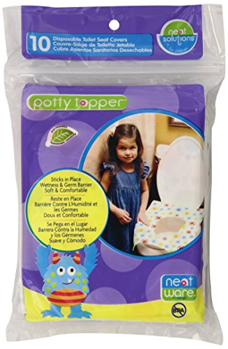Neat Solutions Potty Topper Disposable Toilet Seat Cover with Adhesive Strips for On-The-Go Protection, 40 Count