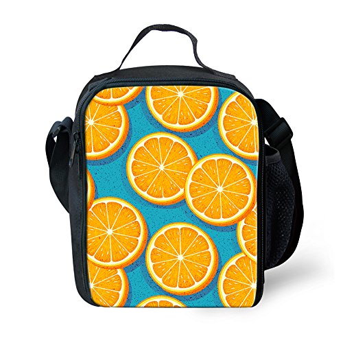 Showudesigns Mode Fruits Lunch Box Isotherme déjeuner pique-nique Sacs pour enfants léger S Fruit Citron