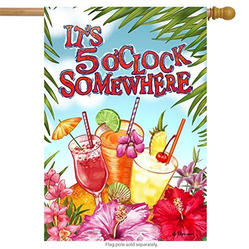 Garden 5 Oclock Somewhere - Briarwood Lane It's 5 O'clock Somewhere Summer House Flag Cocktails Tropical Drinks 28