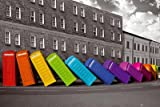 Falling Phone Boxes Rainbow London Art Print Poster - 24x36