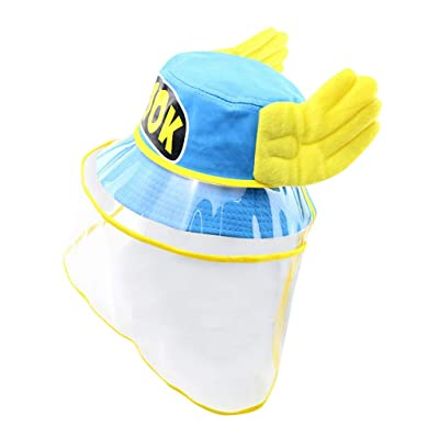 Renzhe Kids Protective Bucket Hat , Dustproof Anti-Fog Cap for Boys & Girls Outdoor Sun Protection Hat: Toys & Games