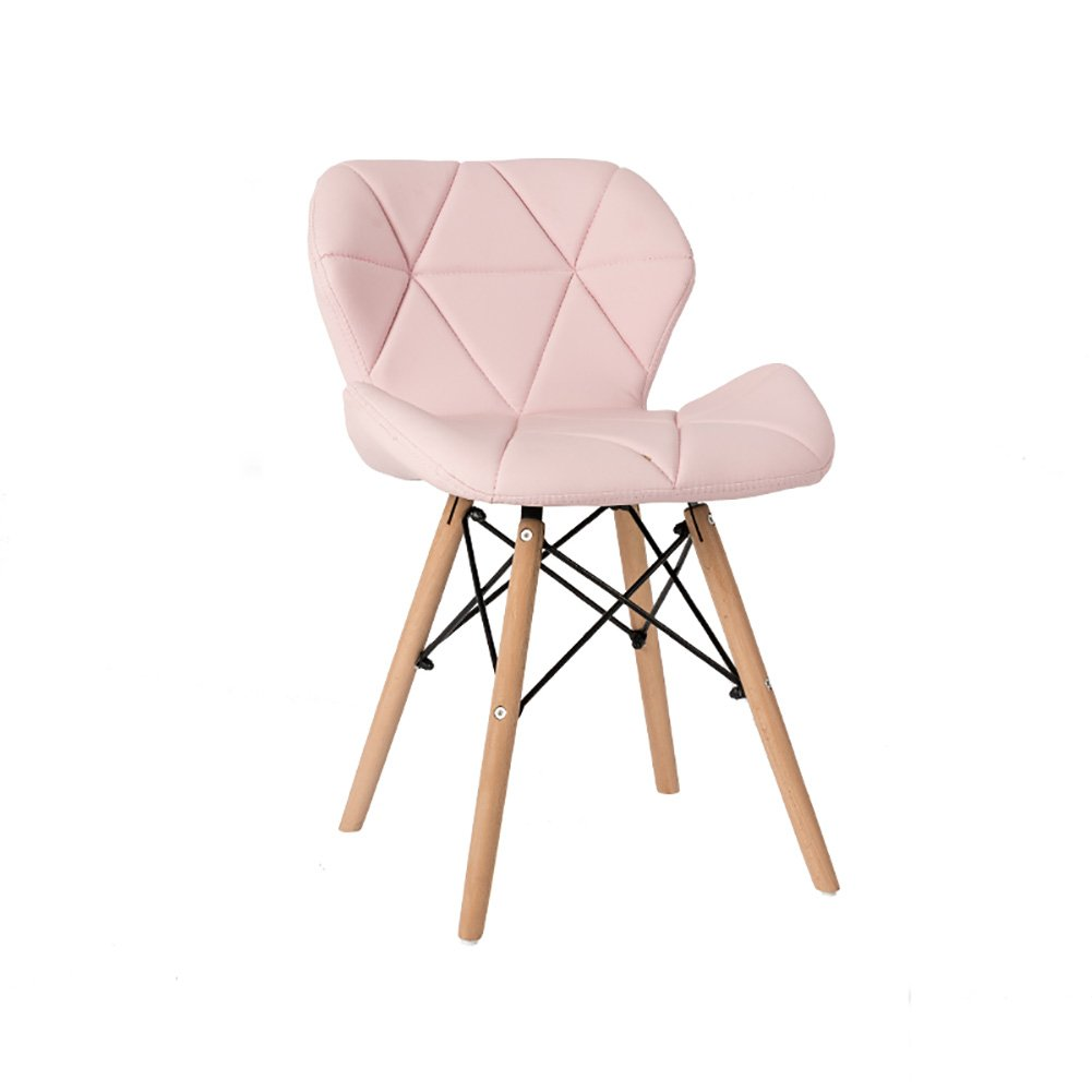 背もたれ椅子ソリッドウッドダイニングチェア背もたれレジャーオフィスミーティングリビングルームスツール (色 : Pink, サイズ さいず : Set of 2) B07FBTJG1F Set of 2 Pink Pink Set of 2