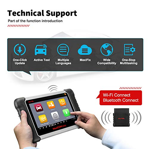 Autel MaxiCOM MK808TS Enhanced Diagnostic Scan Tool of MK808BT and MK808 with Complete TPMS Functions, Full Systems Diagnoses and Reset Services including EPB, BMS, SAS, DPF, Oil Reset IMMO Service et by Autel (Image #4)
