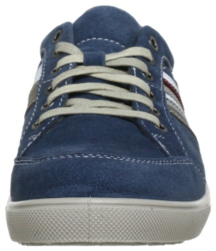 Jomos Ariva 314304-889-8025 - Zapatos de cordones de cuero para hombre Azul (Blau (jeans/jeans/platin/medoc/weiß 8025))