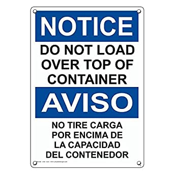 Weatherproof Plastic Vertical OSHA Notice Trash Container for Tenants Only No Public Use Sign with English Text