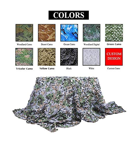 Camo Net,Camouflage Netting Sunshade Cover Sunscreen Mesh Awning,for Child Hunting Outdoor Shooting Army Decoration Garden Activity Wild Animals Photography Fishing Military,Woodland (Size : 77M) ()