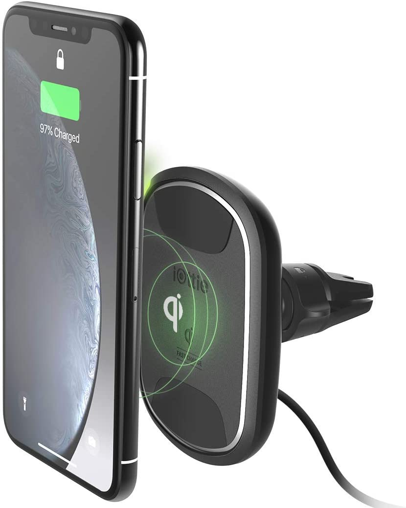 iOttie iTap 2 Wireless Magnetic Qi Wireless Charging Air Vent Mount || Compatible with iPhone XS XR X Max Samsung S10 S9+ Smartphones | + Dual Car Charger