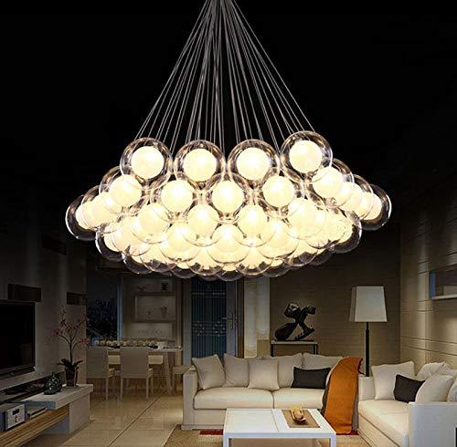FidgetGear Modern Glass Ball Bubble LED Pendant Lamp Chandelier Ceiling Lights with G4 Bulb Cool White 15 Heads by FidgetGear (Image #2)