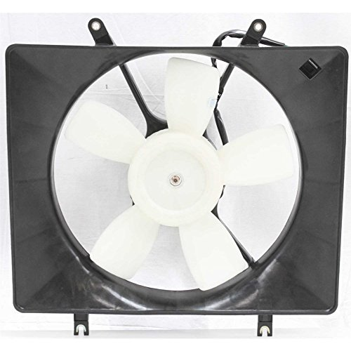 Evan-Fischer EVA24572026721 New Direct Fit Radiator Fan Assembly for RODEO 98-04 4 Cyl Manual Transmission Single (4 Cyl Auto Transmission)