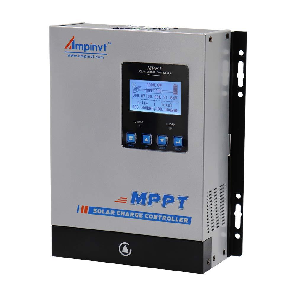 60A MPPT Solar Charge Controller 12V 24V 36V 48V Auto,Max 150VDC Input 3400 Watts Solar Regulator,Support WIFI with app by Ampinvt