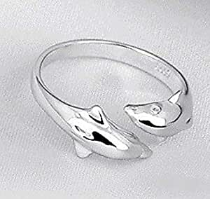 Girls Rings Silver color in the form of Dolphin Item No 320