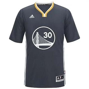 Adidas - Gorra del Equipo de Baloncesto de la NBA Golden State Warriors # 30 Stephen Curry Baloncesto Corto Camiseta Negro, Negro: Amazon.es: Deportes y ...