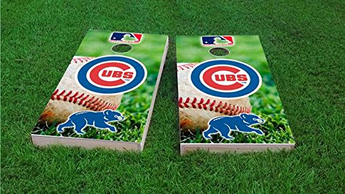 - Tailgate Pro's Chicago Baseball Cornhole Board Set - ACA Regulation Sized - Includes 8 All Weather Bags