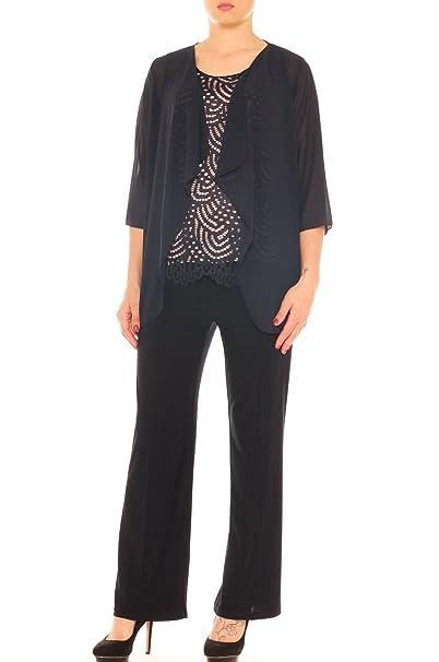 f0d3eb5cf630 Completo Donna Elegante Twin Set e Pantalone Palazzo Taglia Morbida   Amazon.it  Abbigliamento