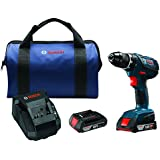 "Bosch DDS181A-02 18V Compact Tough 1/2"" Drill/Driver Kit with SlimPack Batteries"