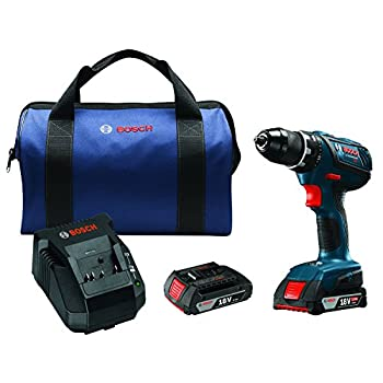 Image of Bosch 18V Compact Tough ½ In. Drill/Driver Kit DDS181A-02 with SlimPack Batteries Home Improvements