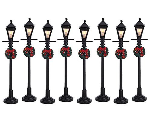 Lemax Village Collection Gas Lantern Street Lamp Set of 8 #64500 by Lemax