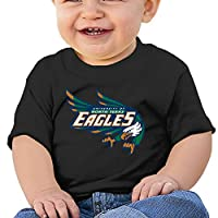 JJVAT Baby's University Of North Texas Shirts For 2-24 Months Boy's & Girl's Black