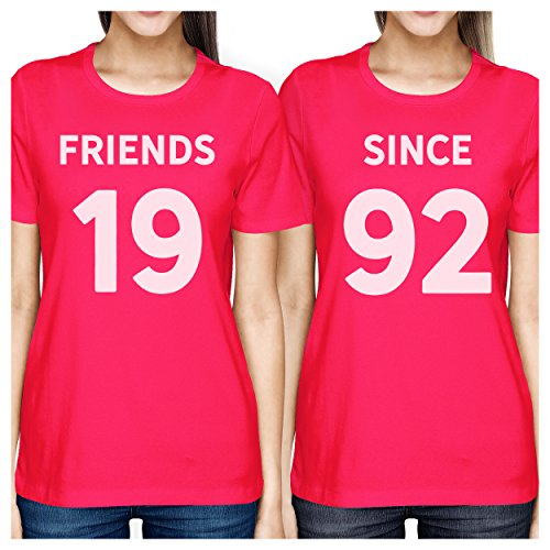 Taille Hot Years Femme Pink Unique Friends 365 shirt Courtes Printing Manches Custom T Since qSwS7Y