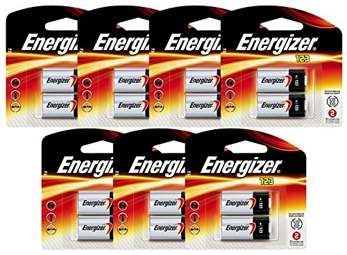 14 Energizer Lithium CR123A 3V Photo Lithium Batteries - In Retail Package (7x2) by Energizer