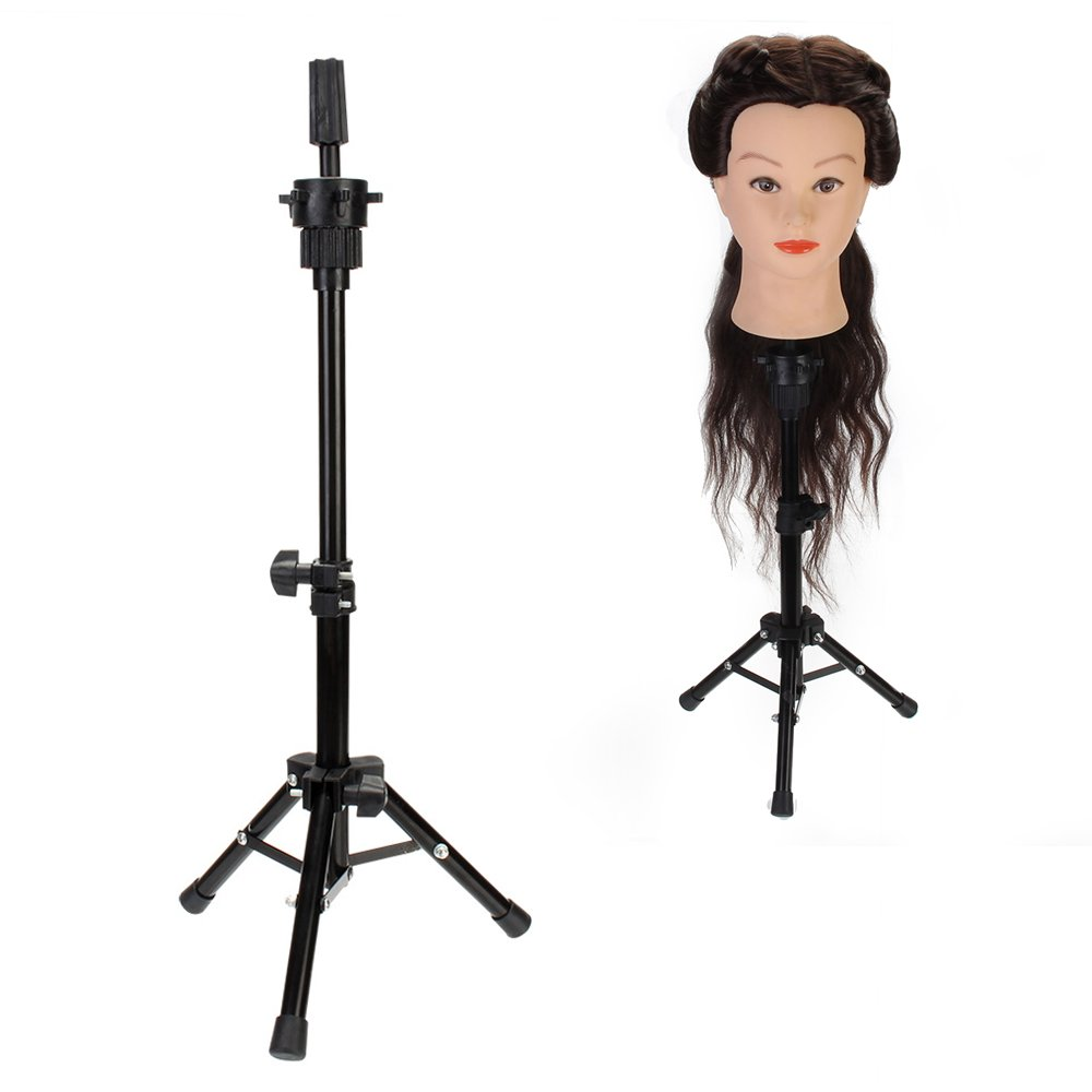 Neverland Beauty Tripod Adjustable Manikin Mannequin Head Holder Hairdressing Training Stand (Black) Neverland Beauty & Health