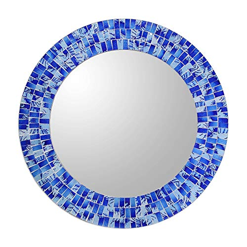 NOVICA MI0034 Tropical Fusion' Glass Mosaic Mirror