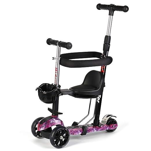Baby Stroller YXGH@ - Patinete de 4 Ruedas para niños niños ...
