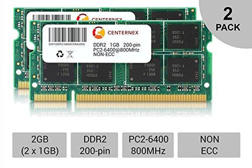 2GB Kit Lot 2x 1GB PC2-6400 6400 DDR2 DDR-2 800mhz 800 Laptop Memory RAM by ()