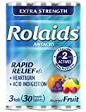 Rolaids Extra Strength Chewable Tablets Fruit 30 c...